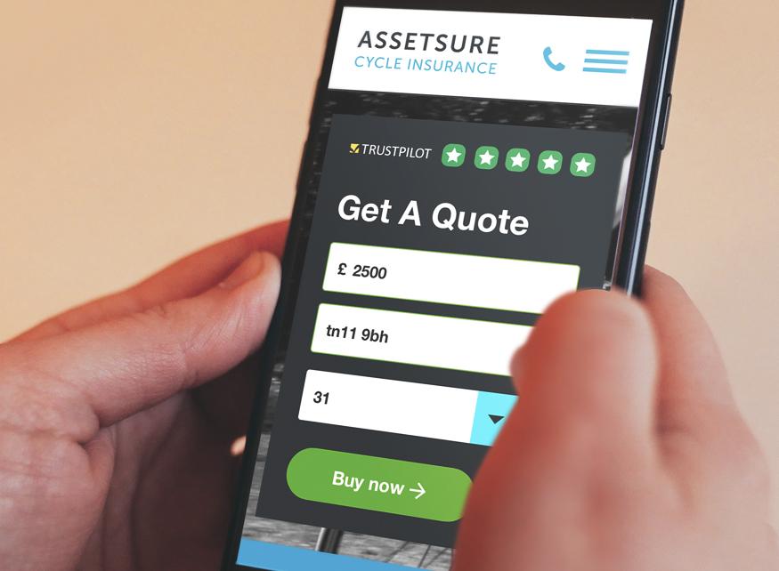 Website design for insurance